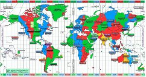 world time map at 3-01 kirimati christmas island time